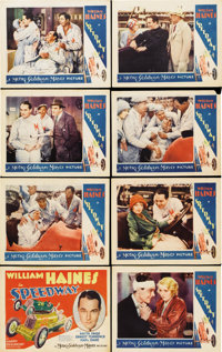 """Speedway (MGM, 1929). Lobby Card Set of 8 (11"""" X 14"""").... (Total: 8 Items)"""