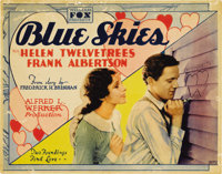 "Blue Skies (Fox, 1929). Title Card and Lobby Cards (4) (11"" X 14"").... (Total: 5 Items)"