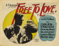 "Movie Posters:Melodrama, Free to Love (Al Lichtman Corporation, 1925). Title Lobby Card andLobby Card (11"" X 14"").... (Total: 2 Items)"