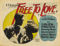 "Free to Love (Al Lichtman Corporation, 1925). Title Lobby Card and Lobby Card (11"" X 14"").... (Total: 2 Items)"