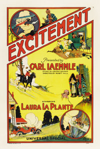 "Excitement (Universal, 1924). One Sheet (27"" X 41"")"