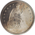 Proof Seated Dollars: , 1861 $1 PR63 PCGS. Although 1,000 proofs were reportedly minted in1861, only about 350 were ...
