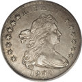 """Early Dollars: , 1800 $1 Dotted Date AU53 PCGS. B-14, BB-194, R.3. The popular""""dotted date"""" variety, which ra..."""