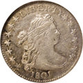 Early Dimes: , 1801 10C AU50 NGC. JR-1, R.4. The 1801 dime is one of the toughissues in the series, although it is clearly not as rare as...