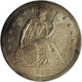 Seated Dollars: , 1850 $1 MS60 NGC. This evenly struck and satiny representative hasfrosty devices and medium ...
