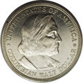 Commemorative Silver: , 1892 50C Columbian PR63 PCGS. While many prooflike examples areknown for the Columbian halves, true proofs number around 1...