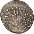 1662 2PENCE Oak Tree Twopence XF40 PCGS. Crosby 1-A3, Noe-31, High R.6. A horizontal die break from the top of the 2 in...