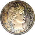 Proof Barber Quarters: , 1912 25C PR67 NGC. The Philadelphia Mint saw an emission of 700 proofs in this waning year of the Barber design. Design cha...