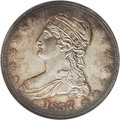 Reeded Edge Half Dollars: , 1837 50C MS63 NGC. JR-29. This rare variety was not listed in JulesReiver's Variety Identification Manual. The discove...