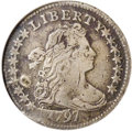 Early Dimes: , 1797 10C 16 Stars--Damaged--ANACS. VF 20 Details. JR-1, R.4. One ofonly two varieties of dimes known for this date, both o...