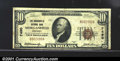 National Bank Notes:Kentucky, Morganfield National Bank, Morganfield, KY, Charter #7490. 1929...