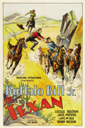 "Movie Posters:Western, The Texan (Principal Attractions, 1932). One Sheet (27"" X 41"")...."
