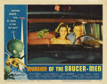 "Movie Posters:Science Fiction, Invasion of the Saucer-men (American International, 1957). LobbyCard (11"" X 14"")...."
