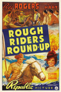 "Movie Posters:Western, Rough Riders Round-up (Republic, 1939). One Sheet (27"" X 41"")...."