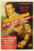 """Movie Posters:Mystery, Charlie Chan in the Secret Service (Monogram, 1944). One Sheet (27""""X 41"""")...."""