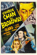 "Movie Posters:Mystery, Charlie Chan on Broadway (20th Century Fox, 1937). One Sheet (27"" X 41"")...."