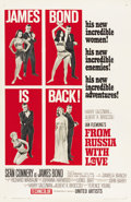 "Movie Posters:James Bond, From Russia with Love (United Artists, 1964). One Sheet (27"" X 41"")Style B...."
