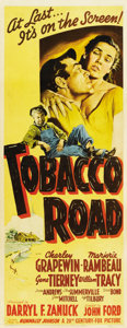 "Movie Posters:Drama, Tobacco Road (20th Century Fox, 1941). Insert (14"" X 36"")...."