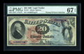 Large Size:Legal Tender Notes, Fr. 127 $20 1869 Legal Tender PMG Superb Gem Unc 67 EPQ....