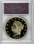 "S.S.C.A. Relic Gold Medals, SSCA Relic Gold Medal ""1855"" Kellogg & Co. Fifty DollarGem Proof PCGS...."