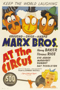 "Movie Posters:Comedy, At the Circus (MGM, 1939). One Sheet (27"" X 41"") Style C...."