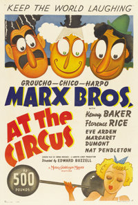 """At the Circus (MGM, 1939). One Sheet (27"""" X 41"""") Style C"""
