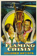 "Movie Posters:Black Films, Flaming Crisis (Monarch, 1924). One Sheet (27"" X 41"")...."
