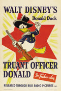 "Movie Posters:Animated, Truant Officer Donald (RKO, 1941). One Sheet (27"" X 41"")...."