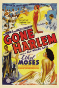 "Movie Posters:Black Films, Gone Harlem (Sack Amusement Enterprises, 1939). One Sheet (27"" X41"")...."