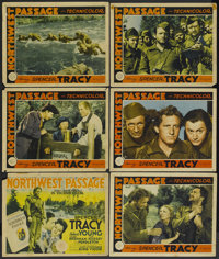 "Northwest Passage (MGM, 1940). Title Lobby Card and Lobby Cards (5) (11"" X 14""). Western.... (Total: 6 Items)"