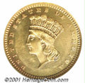 Proof Gold Dollars: , 1885 G$1, CA