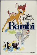 "Movie Posters:Animated, Bambi (Buena Vista, R-1982). Poster (40"" X 60""). Animated...."