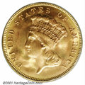 Three Dollar Gold Pieces: , 1887 $3