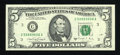 Small Size:Federal Reserve Notes, Fr. 1981-C $5 1988A Federal Reserve Note. Superb Gem Crisp Uncirculated.. ...