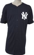 Baseball Collectibles:Uniforms, 2004 Joe Girardi Batting Practice Worn Jersey from Japanese Exhibition. Major League Baseball held a special exhibition to b...