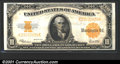 Large Size Gold Certificates:Large Size, 1922 $10 Gold Certificate, Fr-1173, VF-XF. Four folds define th...