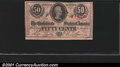 Confederate Notes:1863 Issues, 1863 50 Cents Bust of Jefferson Davis, T-63, CU. You may bid on...