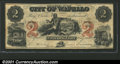 Obsoletes By State:Iowa, 1857 $2 City of Wapello, IA, VF. You may bid on this lot using ...