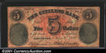 Obsoletes By State:Pennsylvania, 1859 $5 Citizens Bank, Pittsburg, PA, Fine. You may bid on this...