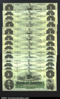 Obsoletes By State:Rhode Island, $1 Bank of America, Providence, RI, 14 examples, all grading CU...