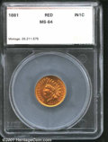 Additional Certified Coins: , 1881 1C, RD