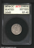 Additional Certified Coins: , 1874-CC 10C ARROWS