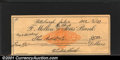 Miscellaneous:Checks, 1902 check from the Mellon National Bank, Pittsburgh, PA, XF. Y...