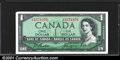 Miscellaneous:Other, 1954 Canada $1, AU. You may bid on this lot using the full colo...