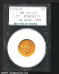 Additional Certified Coins: , 1856-D $5