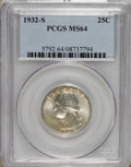 Washington Quarters: , 1932-S 25C MS64 PCGS. PCGS Population (851/90). NGC Census:(454/59). Mintage: 408,000. Numismedia Wsl. Price for NGC/PCGS ...