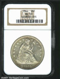 Seated Dollars: , 1844 S$1