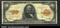 Large Size Gold Certificates:Large Size, 1922 $50 Gold Certificate, Fr-1200, Fine-VF. This crisp example...