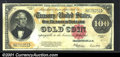 Large Size Gold Certificates:Large Size, 1922 $100 Gold Certificate, Fr-1215, VF-XF. Although technical...