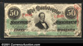 Confederate Notes:1863 Issues, 1863 $50 Black with green overprint; Jefferson Davis, T-57, CU,...